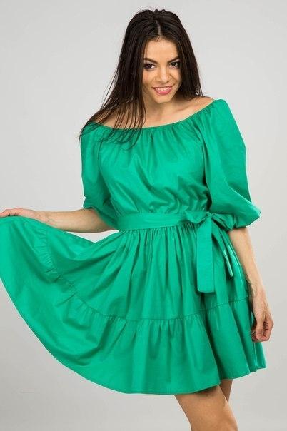 Сшить платье с рукавами и открытыми плечами